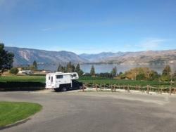 Big Foot camper at Lake Chelan