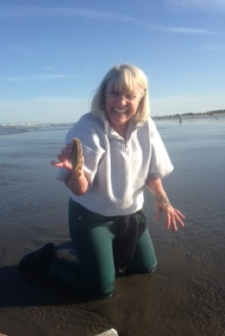 Clam digging with Mary