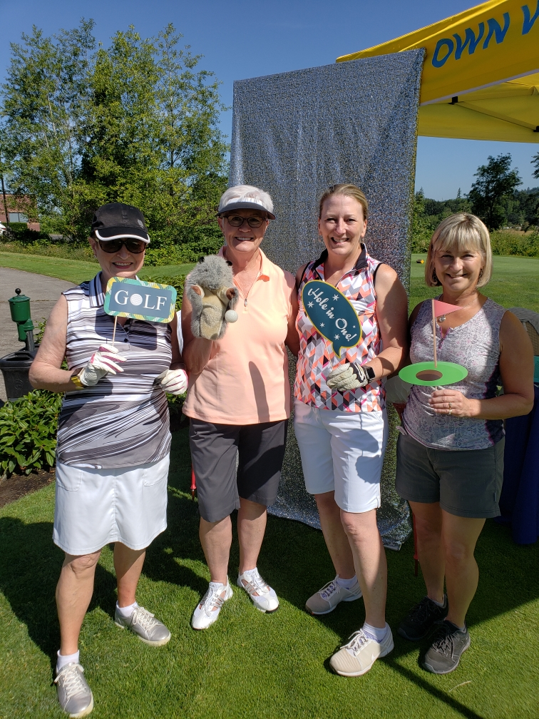 Windermere Stellar Ladies playing golf! We love to get out in the sun.