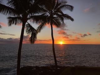 Sunset at Poi Pou in Kauai